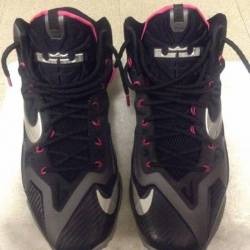 Lebron 12's black/pink