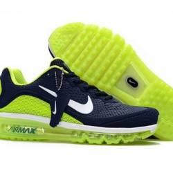 Nike air max navy blue green s...