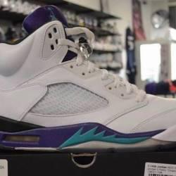 Jordan 5 grape pre owned