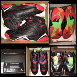"Jordan retro 7 ""marvin the mar..."