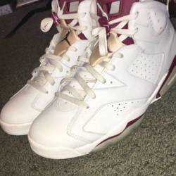 Air jordan maroon 6 s high tops