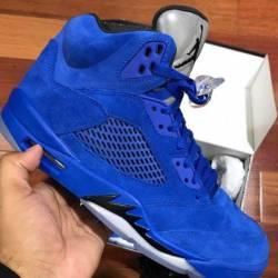 Jordan 5 (blue suede)