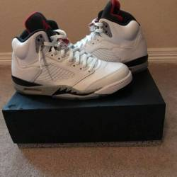 Air jordan 5 gs white cement