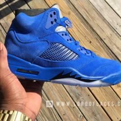 Air jordan 5 blue suede