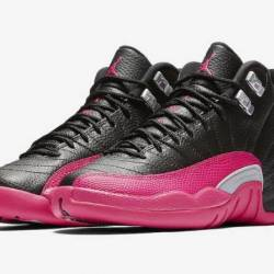 Air jordan 12 gs black deadly ...