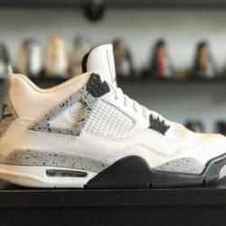 Jordan 4 white cement pre owned