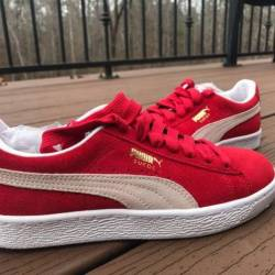 Red puma suede sz 6.5 women
