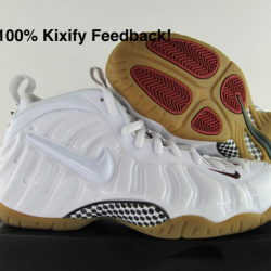 Nike air foamposite pro white ...