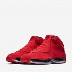 Air jordan 18 toro red black w...