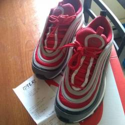 Nike air max 97 wolf grey red ...