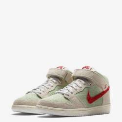 Nike sb dunk mid white widow w...