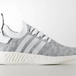 Adidas nmd r2 primeknit grey w...