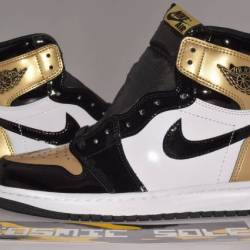 Nike air jordan 1 retro gold t...