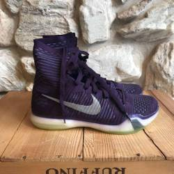 Kobe 10 elite gold purple