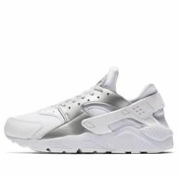 Nike air huarache white metall...