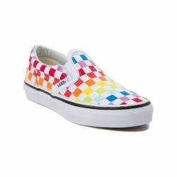 New youth vans slip on rainbow...