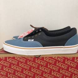 Vans era leather qtr cornt blu...