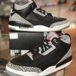 Nike air jordan 3 black cement...