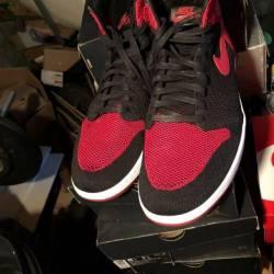 Jordan 1 bred toe flynit
