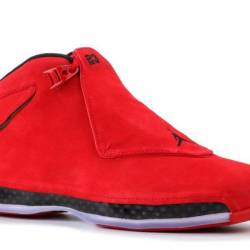 Air jordan 18 retro red suede ...