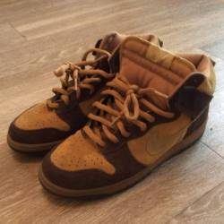 Nike dunks sb high brown pack
