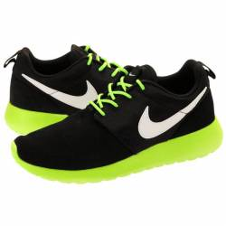 Nike roshe run black/lime gs s...