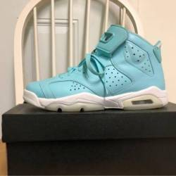Air jordan 6 gs still blue