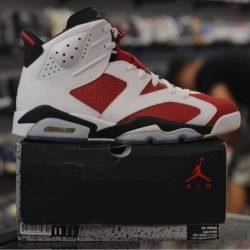 Jordan 6 carmine pre owned men...