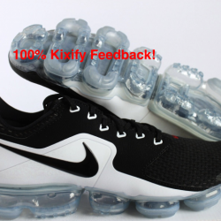 Nike vapormax black and white