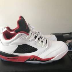 Retro 5 low fire red