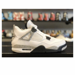 Jordan 4 white cement men's ...