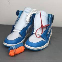 Off-white x air jordan 1 powde...