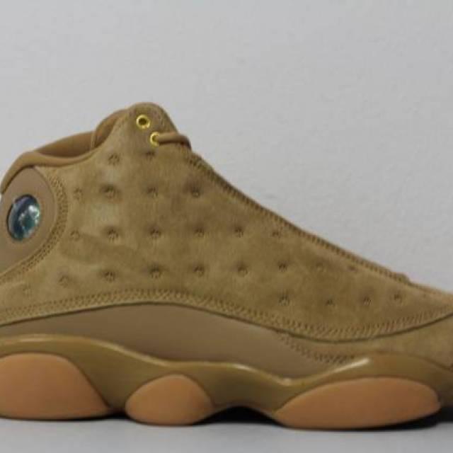 a1b1d81ed34eb1 Nike Mens Air Jordan 13 Retro Size 12 Wheat Element Gold Brown Flax 414571- 705