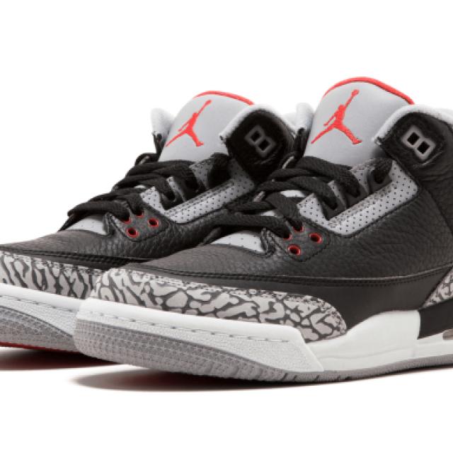 "Air Jordan 3 Retro GS ""Black Cement"