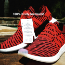 Adidas NMD R2 Red White Red Apple Free shipping