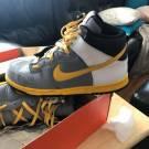 Nike Dunk High Gray/Yellow Premium